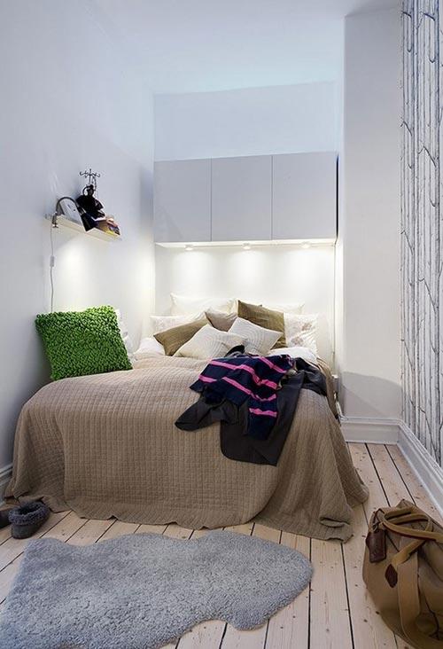 kleine slaapkamer met bomen behang | slaapkamer ideeën, Deco ideeën