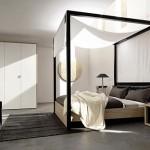 Moderne slaapkamer van kleinschalig appartement