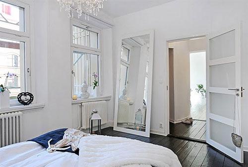 Witte Zweedse slaapkamer