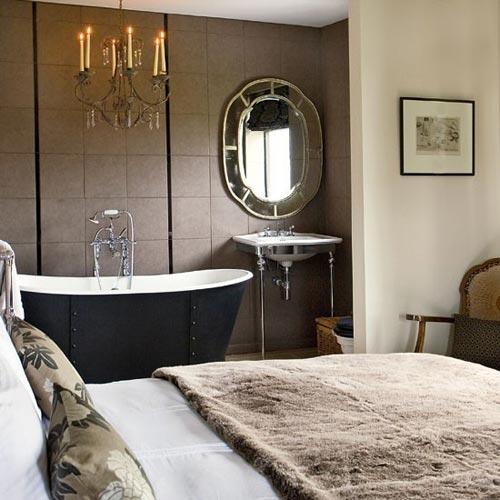 Bad in de slaapkamer