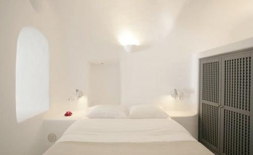 Griekse witte slaapkamer Santorini  Slaapkamer ideeën