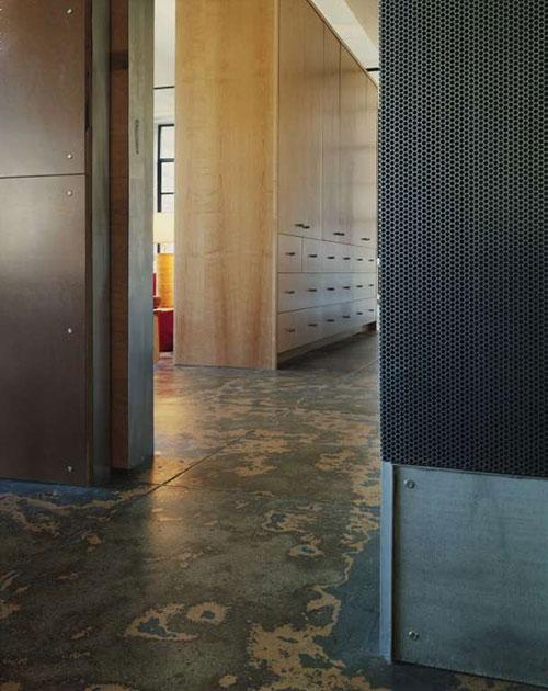 Industriële slaapkamer loft New York