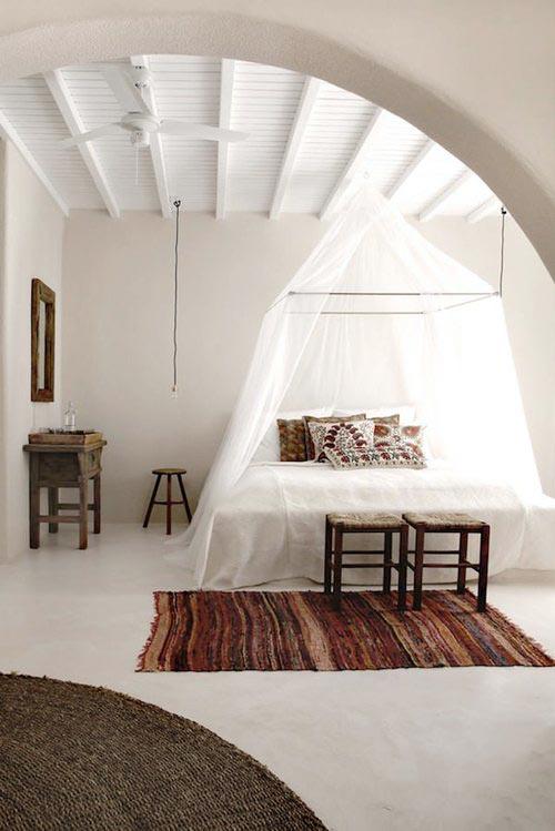 Klamboe als slaapkamer decoratie slaapkamer idee n - Decoratie zolder ...
