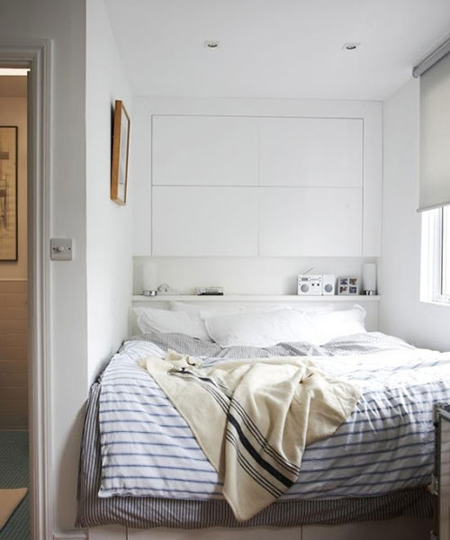 Slaapkamer Inspiratie Kleine Kamer : Kleine slaapkamer met kledingkast ...