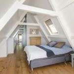 Landelijke zolder slaapkamer