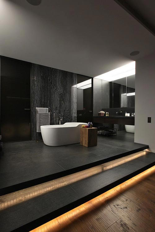 Luxe donkere slaapkamer