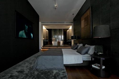 Luxe donkere slaapkamer | Slaapkamer ideeën