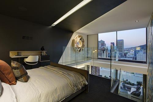 Moderne open slaapkamer