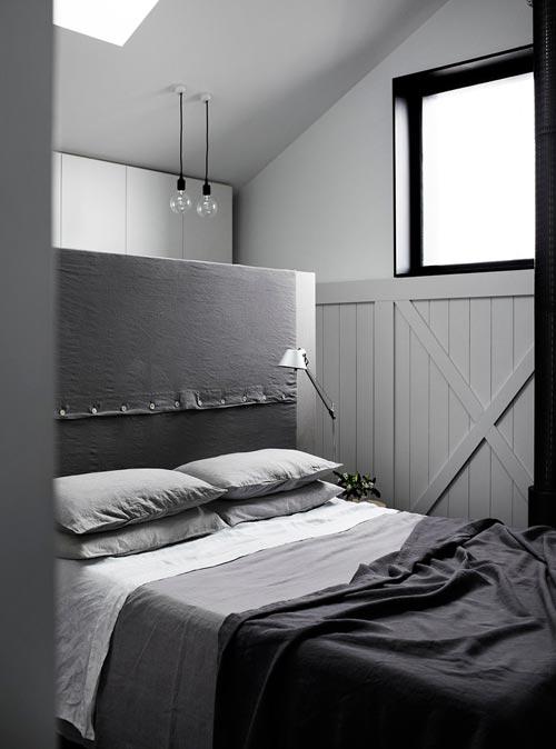 Monochrome moderne slaapkamer