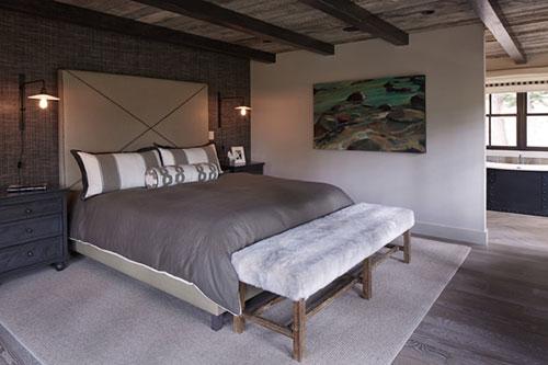Rustieke slaapkamer bij Lake Tahoe | Slaapkamer ideeën