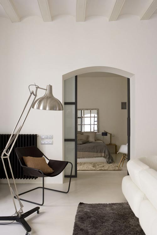 Sfeervolle witte slaapkamer