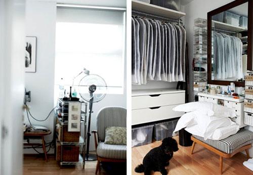 Kleine slaapkamer met kledingkast | Slaapkamer ideeën