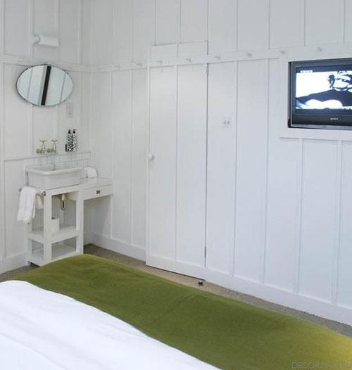 slaapkamer vloer : Witte slaapkamer van High Road House Slaapkamer ...