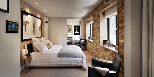 Bakstenen muur in de slaapkamer | Slaapkamer ideeën