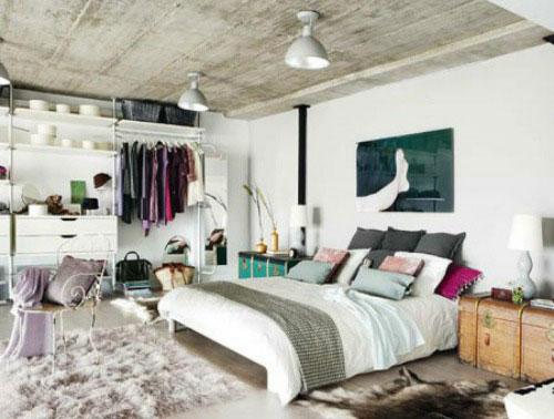 Industriële slaapkamer met warme ideeën | Slaapkamer ideeën