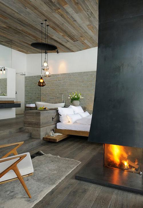 Rustieke slaapkamer van het Wiesergut hotel