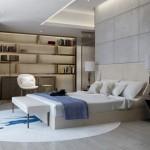 2D ontwerpen van een luxe slaapkamer