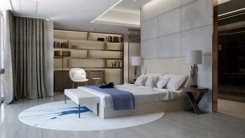 2D ontwerpen van een luxe slaapkamer  Slaapkamer ideeën