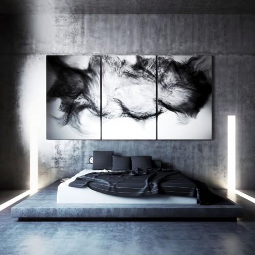 3d ontwerpen van slaapkamer met beton