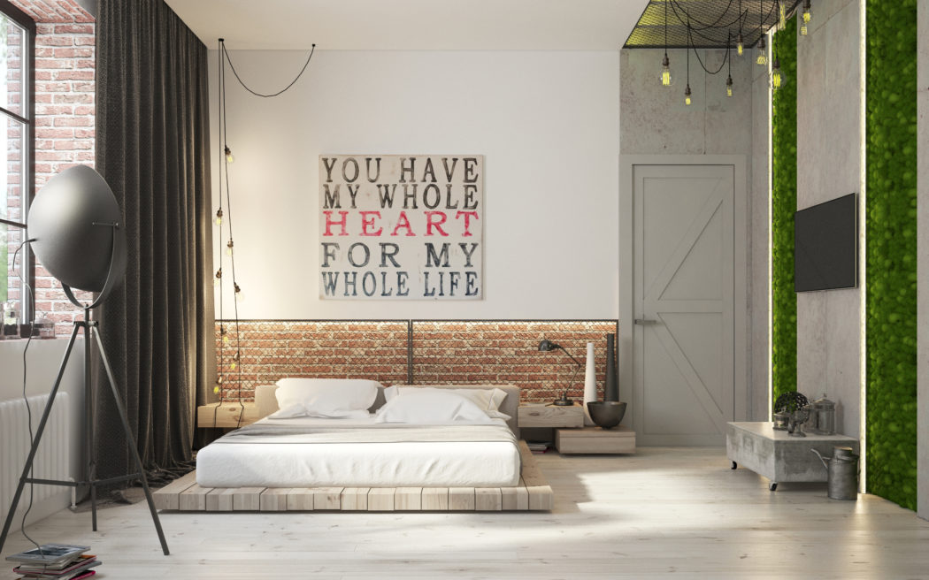 Industriële Slaapkamer | Slaapkamer ideeën