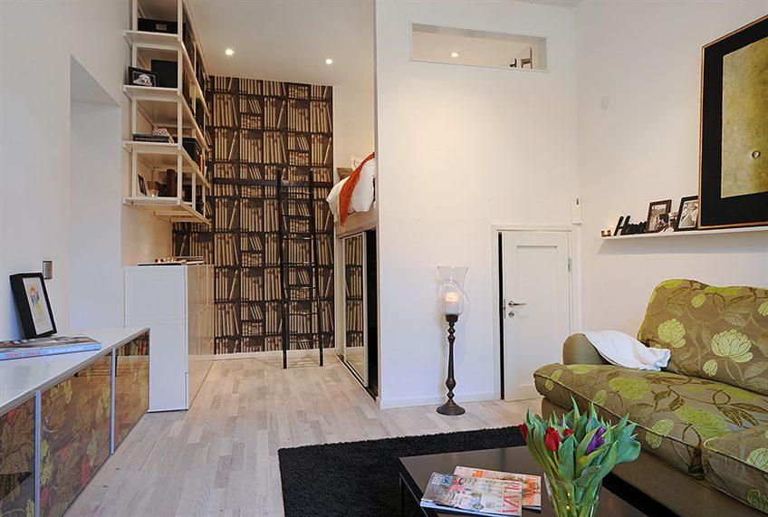 Open slaapkamer met hoogslaper-kledingkast-combinatie (2)
