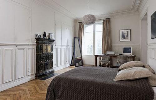 Zwarte slaapkamer ideeen : Open haard in de slaapkamer Slaapkamer ...