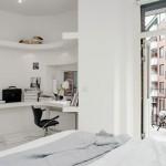 Kantoor in een witte slaapkamer