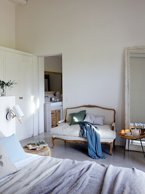barok-landelijke-bank-slaapkamer