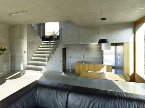 Beton en hout combinatie in slaapkamer ontwerp  Slaapkamer ideeën