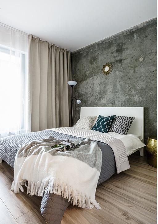 betonmuur-slaapkamer