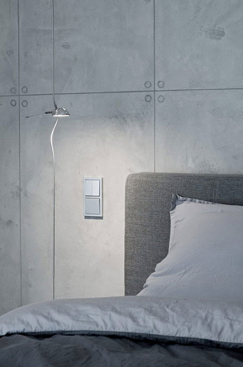 Betonnen muur in slaapkamer  Slaapkamer ideeën