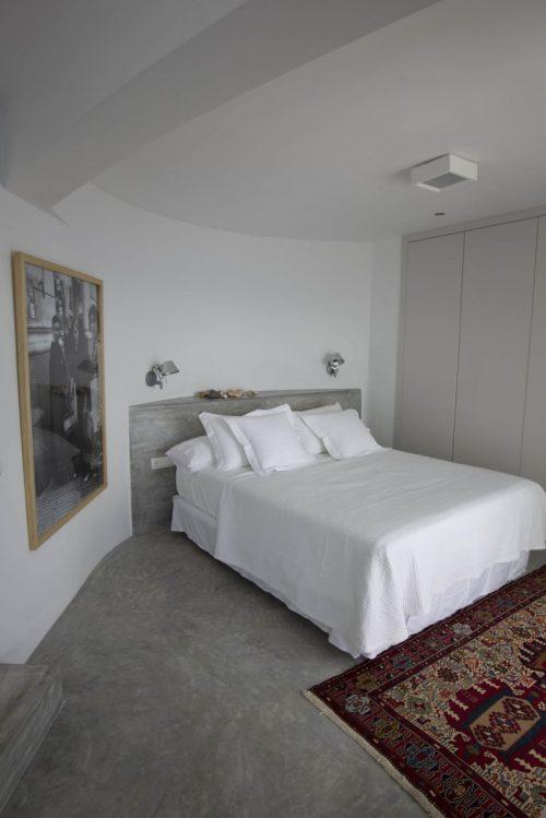 Betonstuc slaapkamer met open badkamer slaapkamer idee n - Bijvoorbeeld vlak badkamer ...