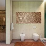 Luxe slaapkamer badkamer suite in een Aziatisch tintje
