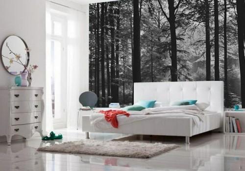 Fotobehang In Slaapkamer : Fotobehang white horses fotobehangen
