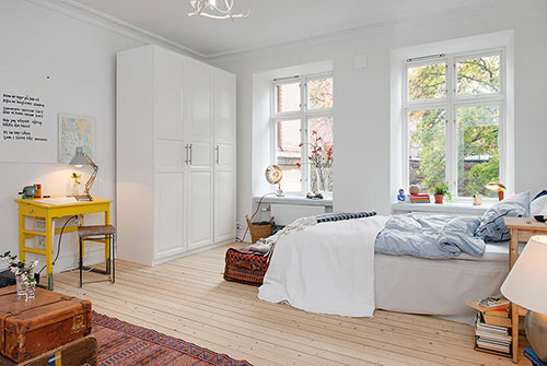 Bureau in slaapkamer