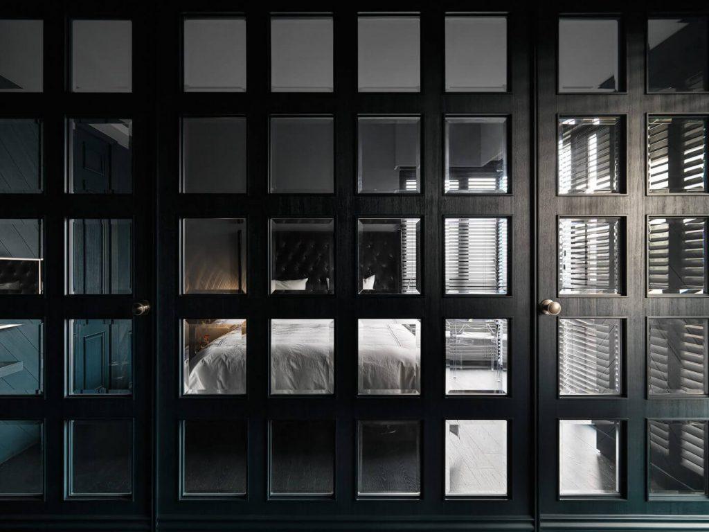 Chique donkere slaapkamer uit Taipei City