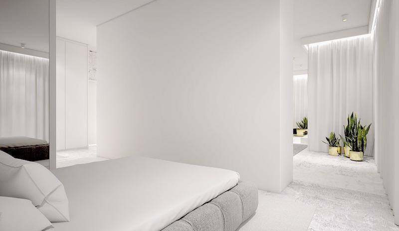 Chique half open loft slaapkamer