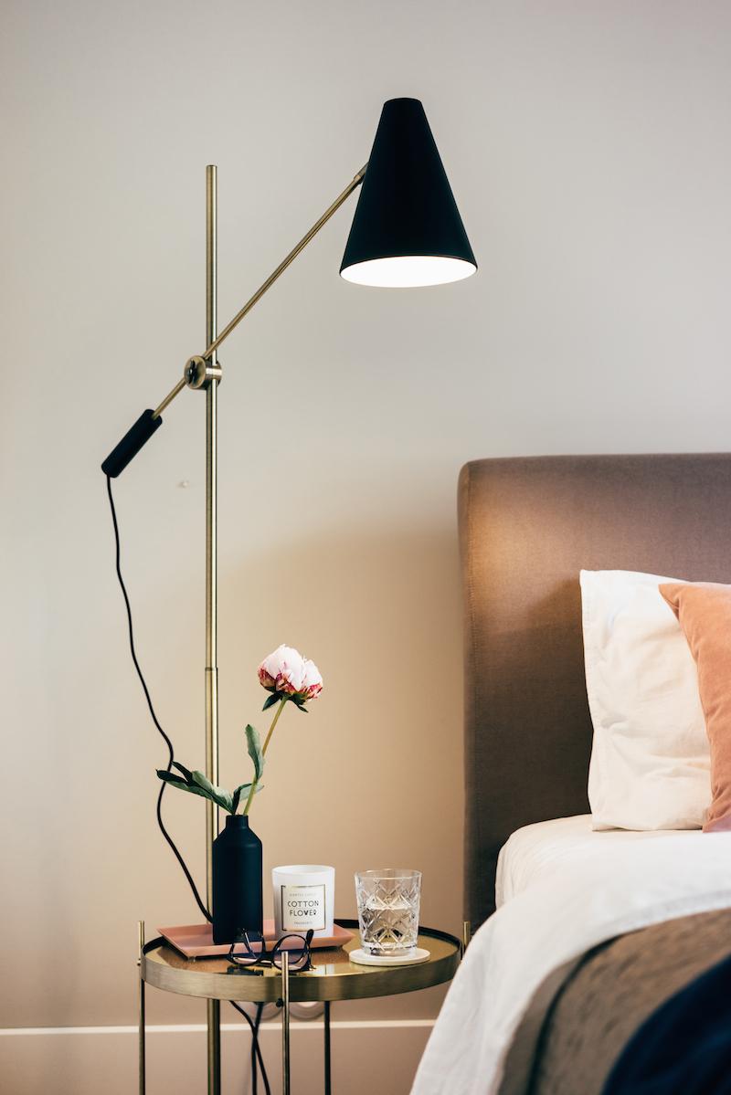 Chique slaapkamer van architect Monika