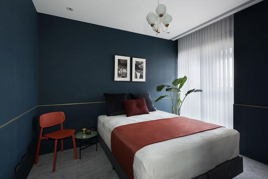 Slaapkamer Blauwe Muur : Chique slaapkamers met blauwe muren slaapkamer ideeën
