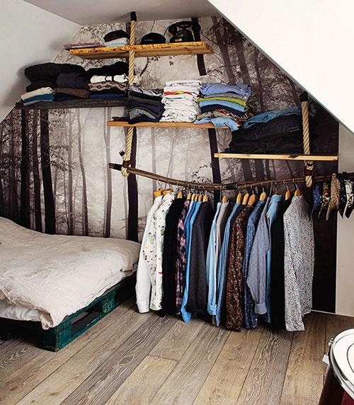creatief ingerichte slaapkamer