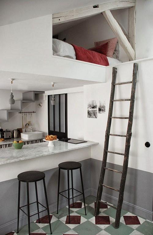 creatieve oplossing in een klein appartement | slaapkamer ideeën, Deco ideeën