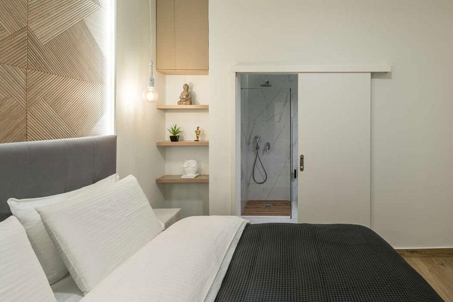 De eigenaar van deze slaapkamer wilde een luxe hotelsfeer creëren