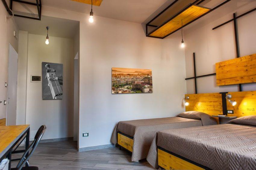 De industriële slaapkamers van B&B L'Officina di Apollo