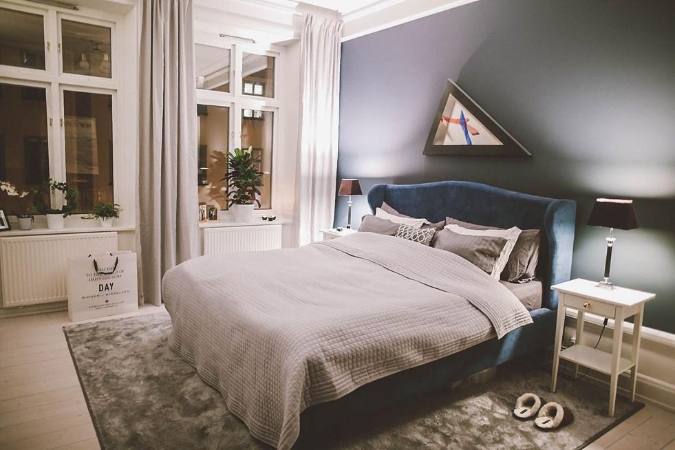 De klassiek chique scandinavische slaapkamer van lifestyle ger