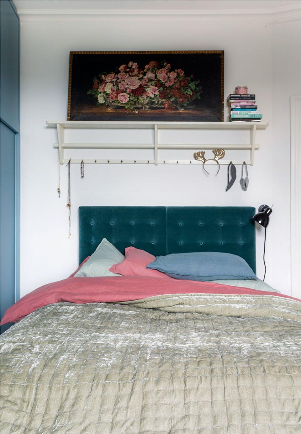De kleurrijke slaapkamer van auteur Signe Wenneberg