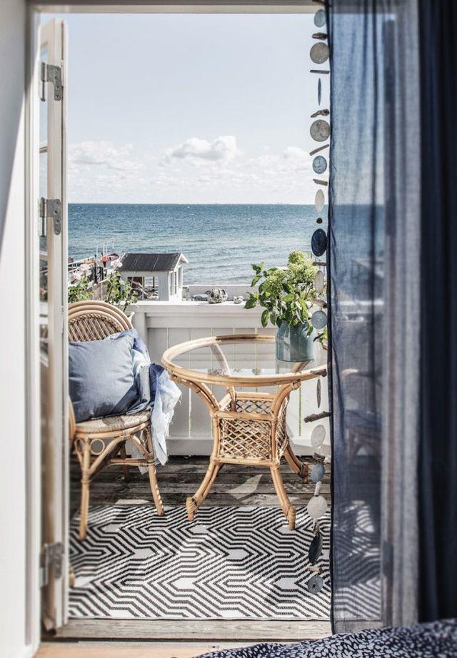 De mooie slaapkamer van een Deens visssershuisje