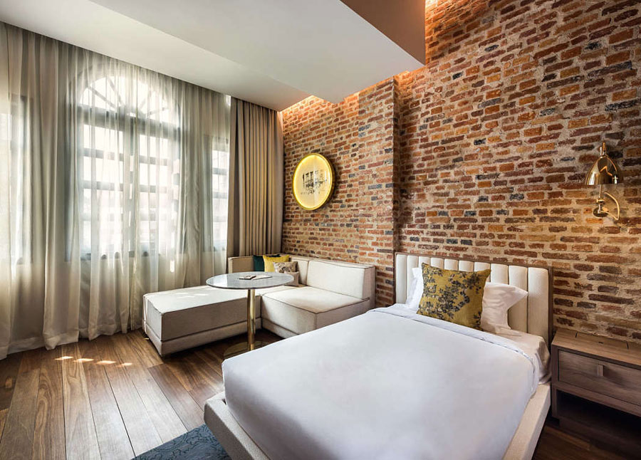 De mooie slaapkamers van de Loke Thye Kee Residences
