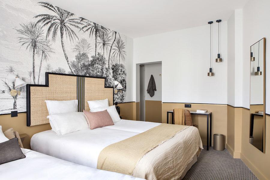 De mooie slaapkamers van Hotel Doisy in Parijs