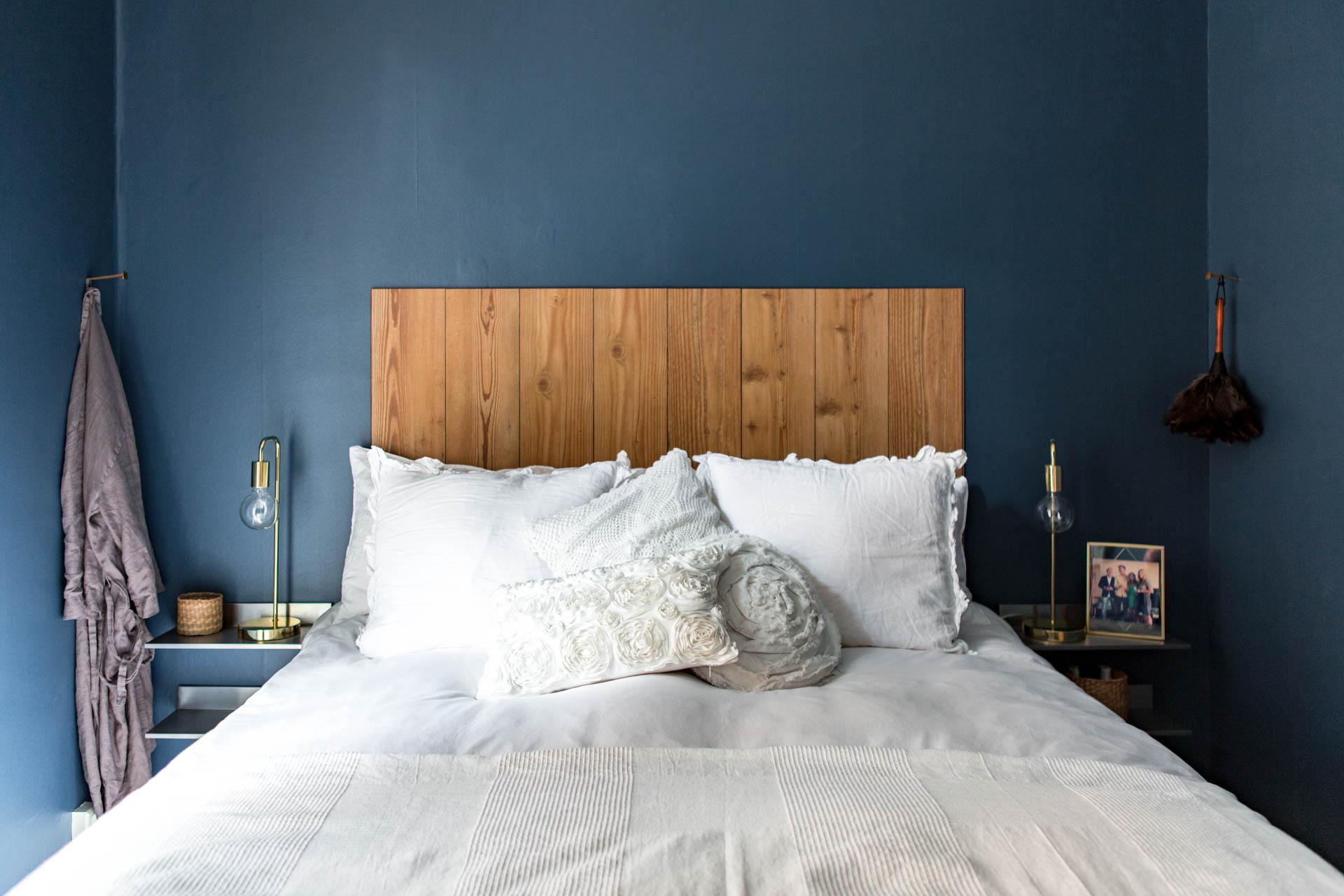 De muren in deze slaapkamer zijn blauw geschilderd! | Slaapkamer ideeën