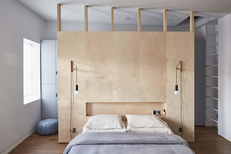 De stoere eco slaapkamer van Lauren en Keith